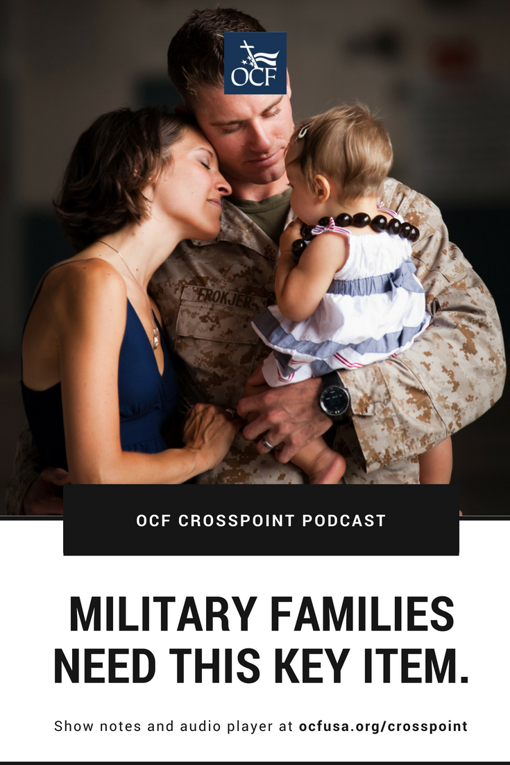 Military family embracing; a key tool for all military families is a support system.
