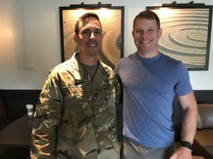 Major Derrick Brown and Major Will MacKenzie, USA, who were guests on episode 31 of OCF Crosspoint